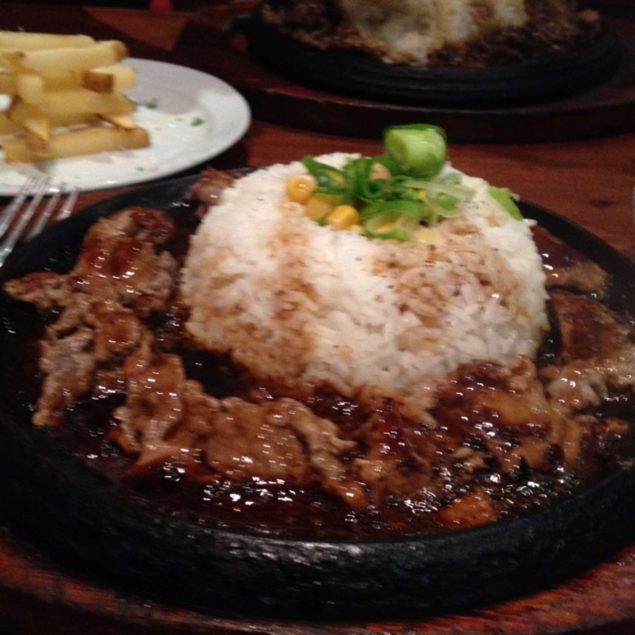 Sizzling Pepper Steak